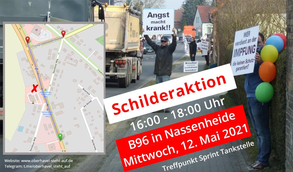 am 12.05.2021 Schilderaktion in Nassenheide