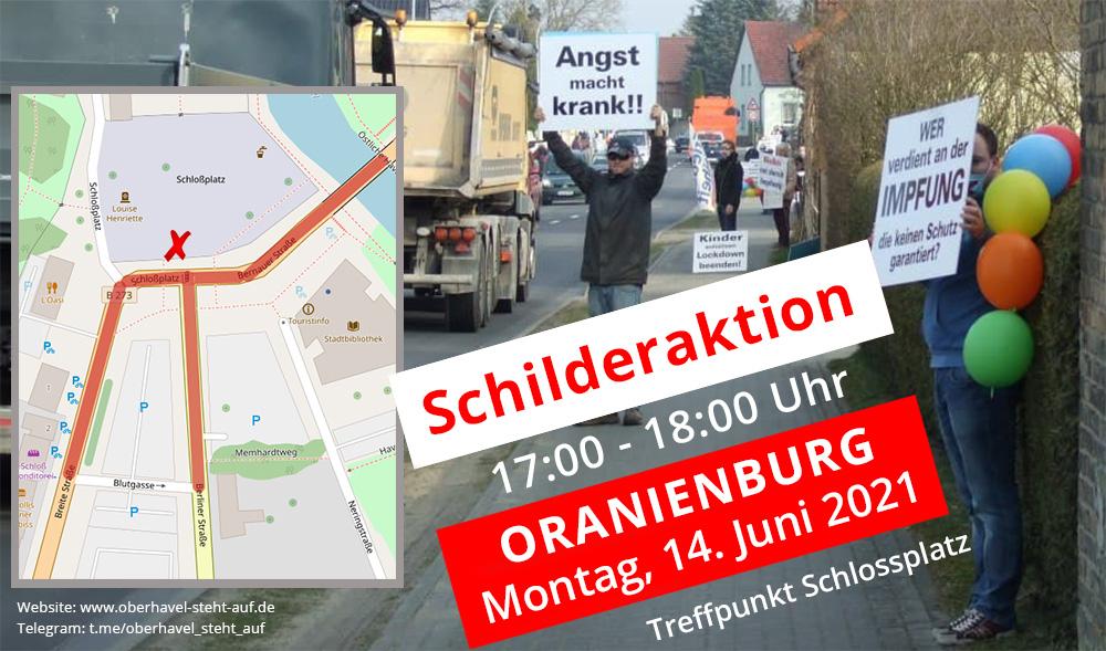 14.06.2021 Schilderaktion in Oranienburg