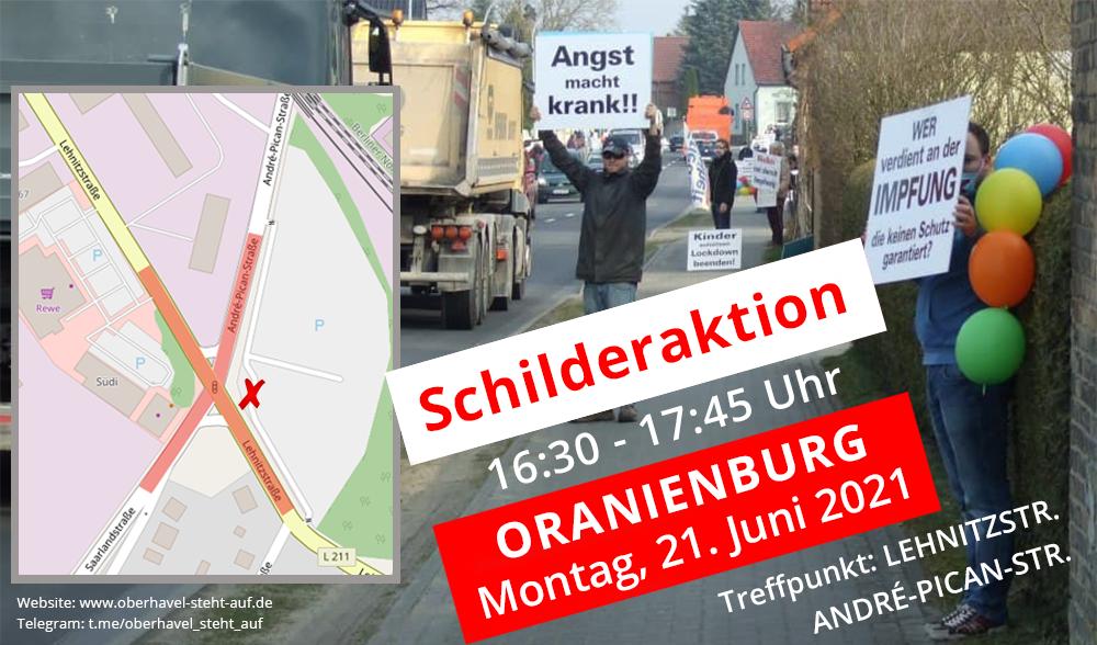 21.06.2021 Schilderaktion in Oranienburg