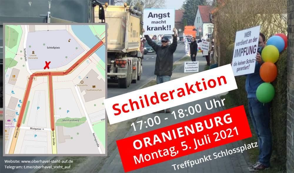 05.07.2021 Schilderaktion in Oranienburg