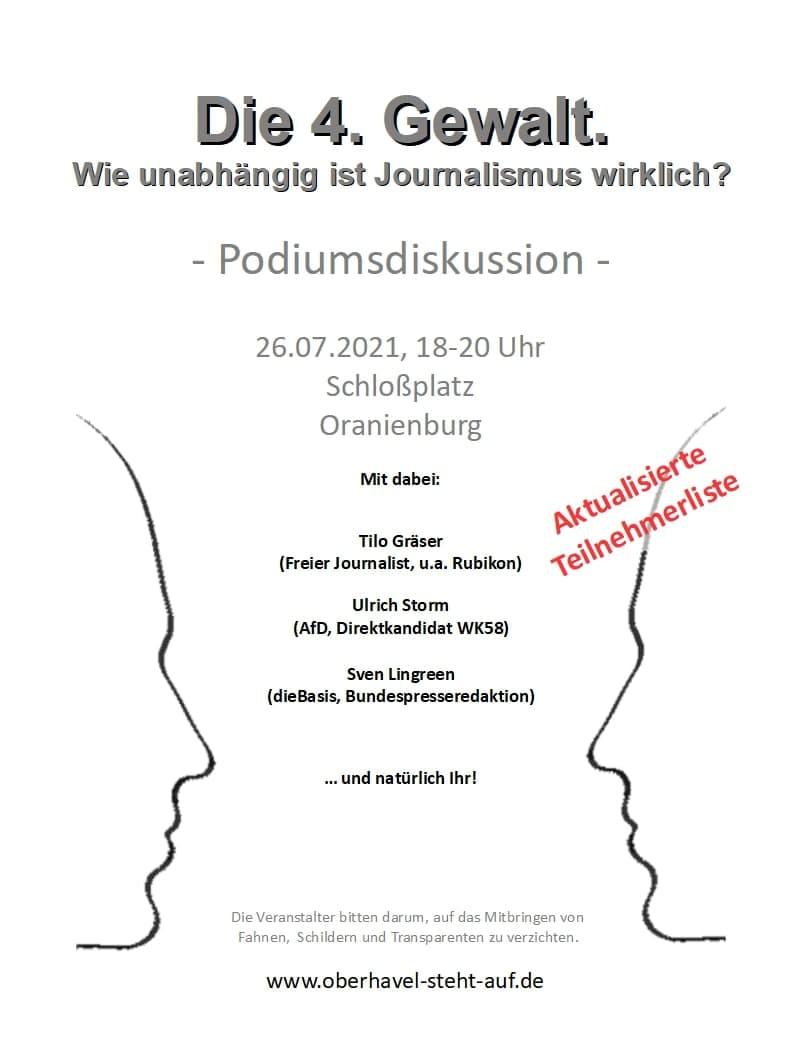 Podiumsdiskussion zum Thema 4. Gewalt, am 26.07.2021