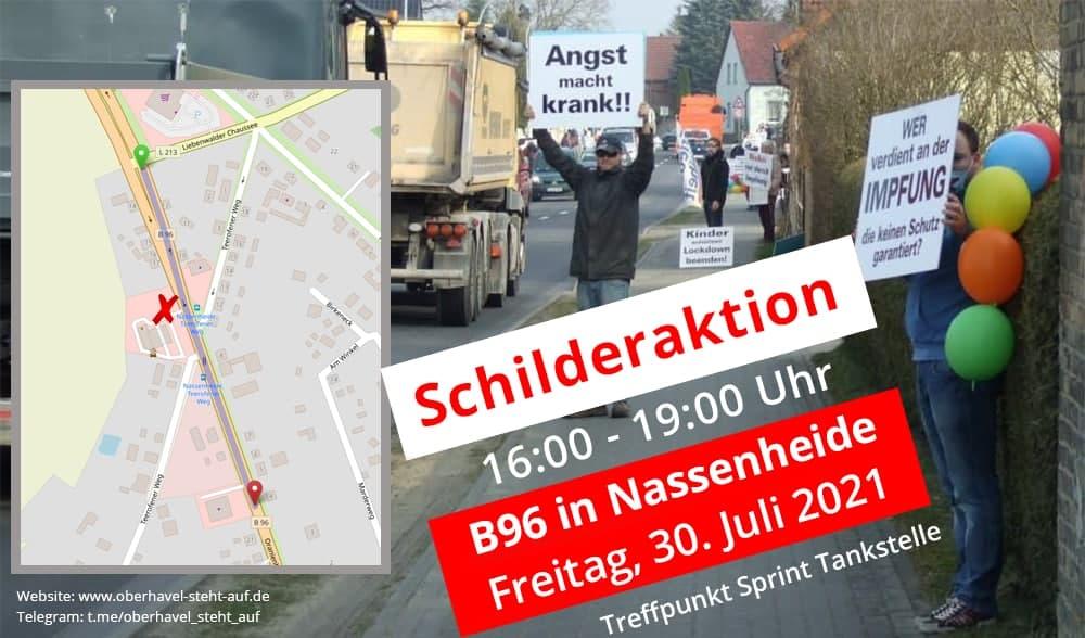 30.07.2021 Schilderaktion in Nassenheide