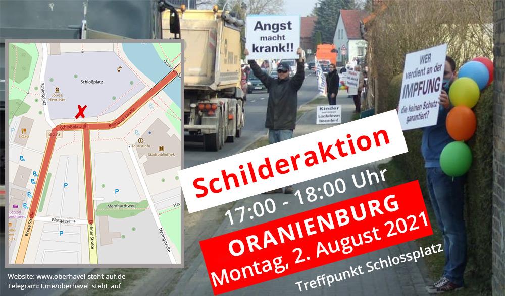 02.08.2021 Schilderaktion in Oranienburg