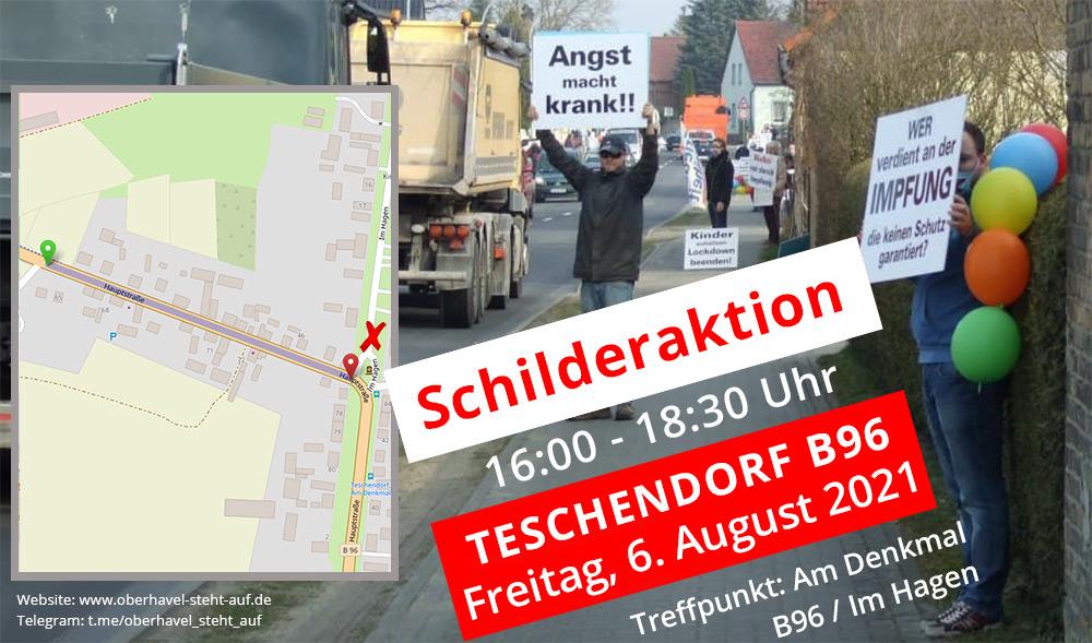 06.08.2021 Schilderaktion in Teschendorf