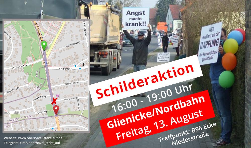 13.08.2021 Schilderaktion in Glienicke/Nordbahn