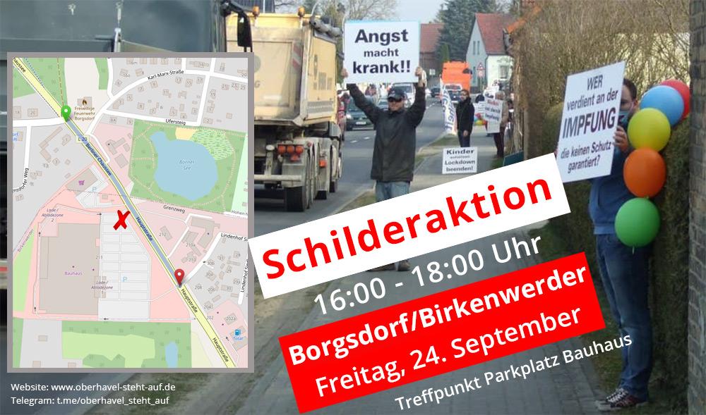 24.09.2021 Schilderaktion in Borgsdorf