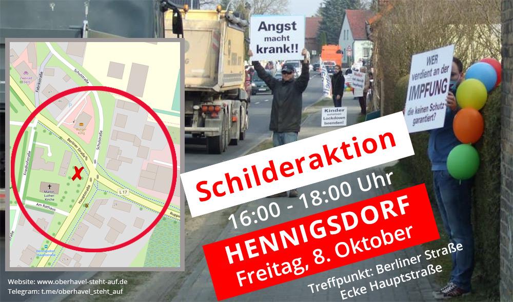 08.10.2021 Schilderaktion in Hennigsdorf