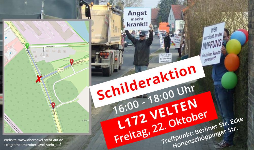 22.10.2021 Schilderaktion in Velten