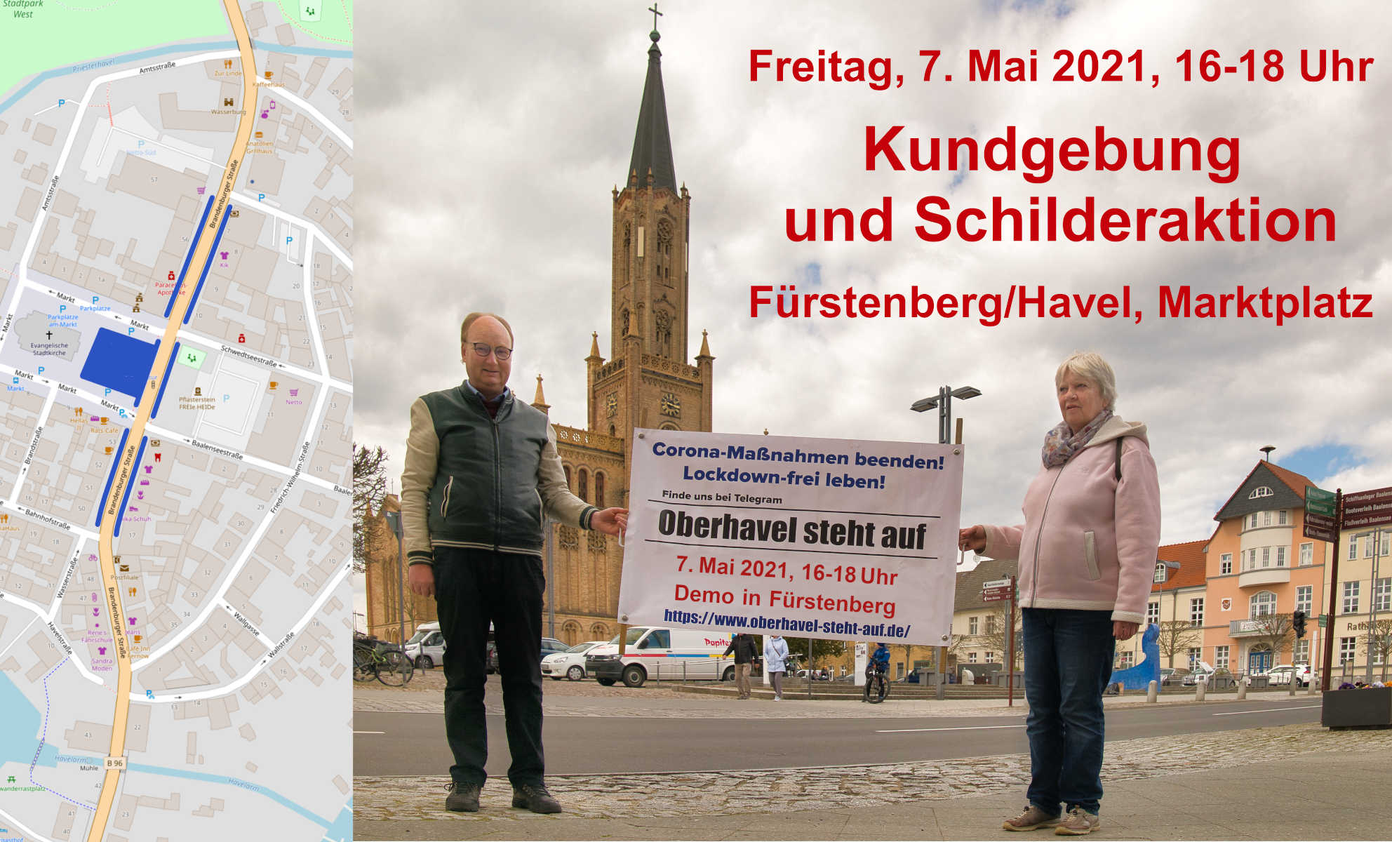 am 07.05.2021 Demo in Fürstenberg/Havel