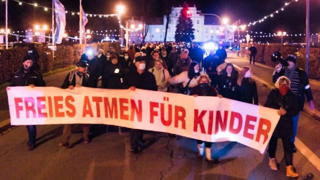 Montagsdemo in Oranienburg am 23.11.2020